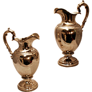 Pair of IMPORTANT EARLY COIN Silver Ewers , Ball, Tompkins & Black