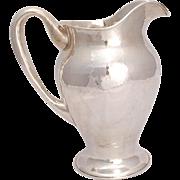 Lebolt Hammered Art & Craft Sterling Water Pitcher