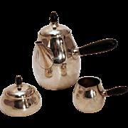 Classic Art Nouveau Georg Jensen Sterling Tea Service - #80 Pattern