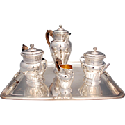 French Empire Style Silver Tea Set Boin-Taburet Paris