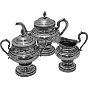 B. Gardiner Coin Silver Three-Piece Tea Set