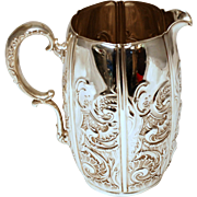 Whiting Rococo Sterling Silver Pitcher
