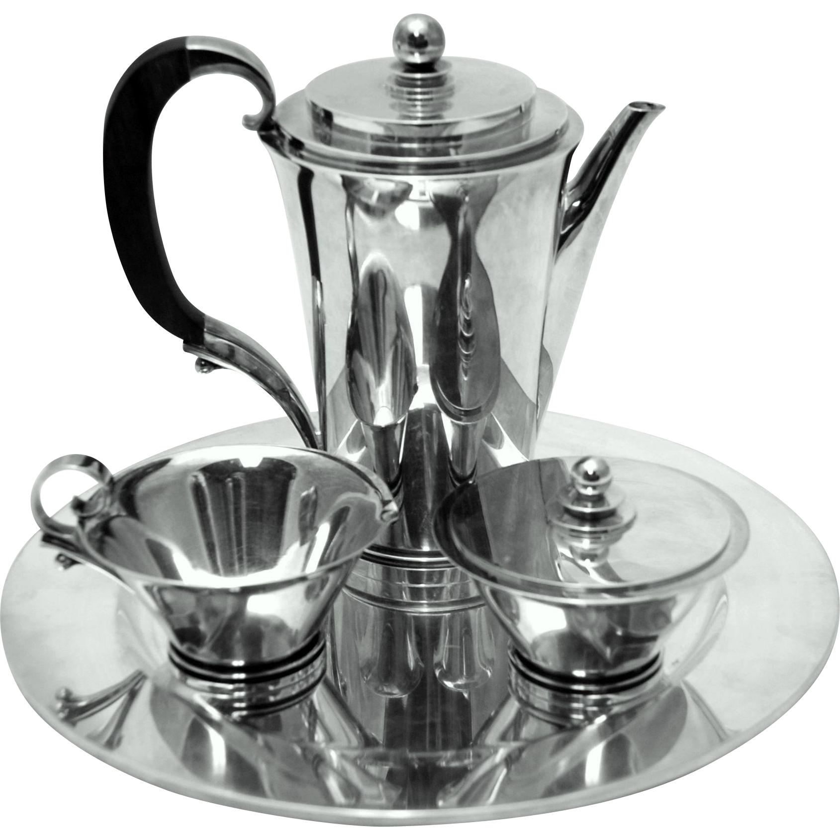 georg jensen sterling silver pyramid coffee set 600a from classicsilver on ruby lane. Black Bedroom Furniture Sets. Home Design Ideas