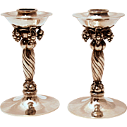 A pair of Georg Jensen Sterling Silver Candlesticks #263