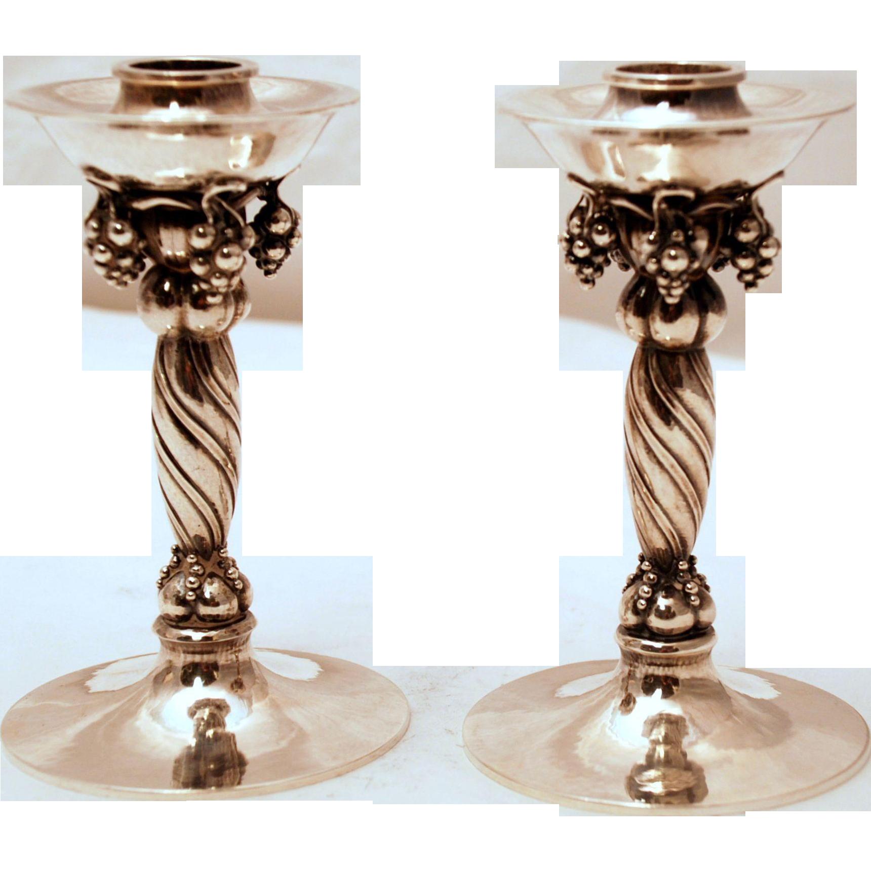 a pair of georg jensen sterling silver candlesticks 263. Black Bedroom Furniture Sets. Home Design Ideas