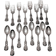 Set of Eight Francis I Sterling Silver Forks & Spoons