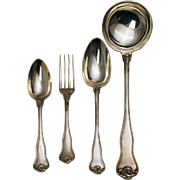 French 950  Silver Boxed Flatware Set