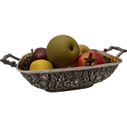 Black, Starr & Frost Sterling Silver Repousse Fruit Basket