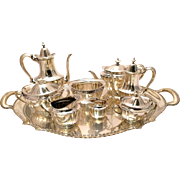 Tiffany & Co. Sterling Silver Marquis Nine-Piece Tea Service