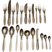 Georg Jensen Cactus Sterling Silver Flatware Set - 214 pcs.
