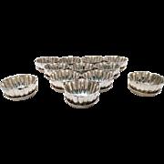 Set of Twelve Sterling Silver Dessert Bowls & Underplates