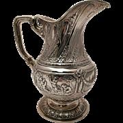 Silver German Pitcher in Desired Cherub Design