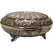Large Turkish Silver Jewelry Box