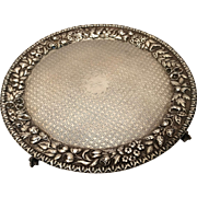 Silver Salver by S Kirk & Son
