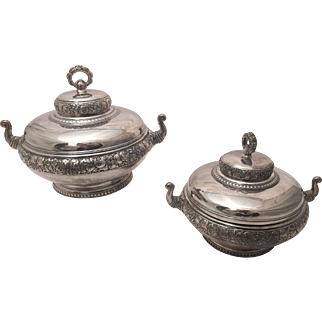Silver Pair of Tiffany & Co. Vegetable Tureens