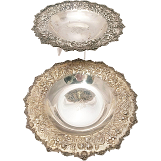 Pair of Silver Serving Plates by Kirk & Son