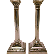 Sterling Silver Judaica Candlesticks