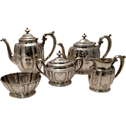 Gorham Silver Five Piece Tea Set A12252