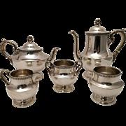 Silver Five Piece Tea & Coffee Set