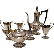 Gorham Plymouth Silver Seven Piece Tea and Coffee Set