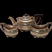 English Silver Three Piece Tea Set