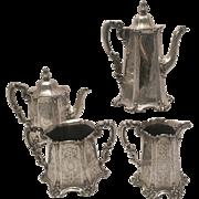 Four Piece Tea Set Silver CA 1854