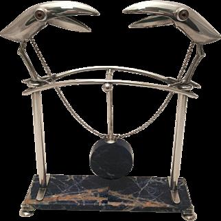 Gabriele Devecchi Silver and Lapis Lazuli Pendulum Sculpture