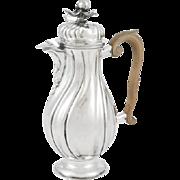 Augsburg, 1763, German Rococo Silver Coffee Pot