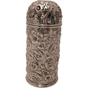 Howard & Co. Sterling Silver Repousse Mufineer / Sugar Shaker