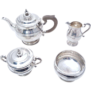 George V Sterling Silver Five Piece Tea Service