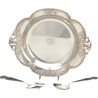 Lebkuecher & Co. Sterling Silver Salad Bowl With Servers, American, ca. 1920