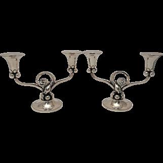 Pair of Alphonse LaPaglia-designed Sterling Silver Candelabra