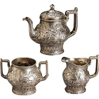 Dominick & Haff Sterling Three-Piece Tea Set