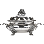 German 19th Century silver lidded & footed Soup tureen