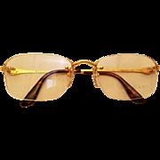 Bulgari/ Bvlgari Gold 18k Rimless Sunglasses
