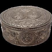 European Silver Portrait / Jewelry Box