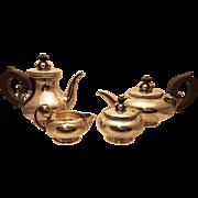 International Sterling Four Piece Tea Set Alphonse La Paglia
