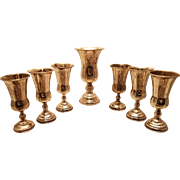 Silver Vodka / Kiddush Cups Set of Seven