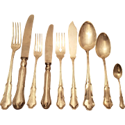 Silver Flatware set with Serving Pieces
