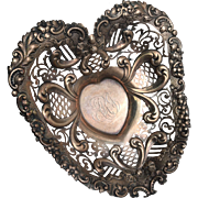 Gorham Heart Shaped Sterling Footed Bowl