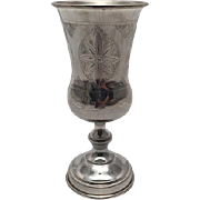 Russian Judaica Sterling Kiddush Cup