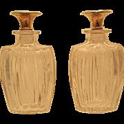 Perfume Bottles of 14K Gilt And Glass