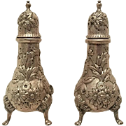 S. Kirk & Son Sterling Salt & Pepper Shakers Repousse