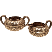 Gorham Sterling Creamer and Sugar Repousse