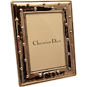 Sterling Picture Frame by Christian Dior Vintage Hand Hammered