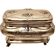 Silver Esrog / Sugar Box Floral Design