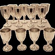Sterling Wine Goblets Set of Twelve 108oz