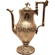 Early Kirk Silver Coffee Pot Repousse