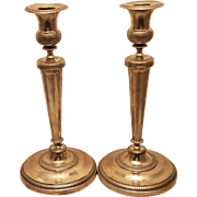 Silver Pair Of Candlesticks / Shabbos Candlesticks