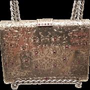 Silver Vanity Boucheron Necessaire With Pink Diamonds